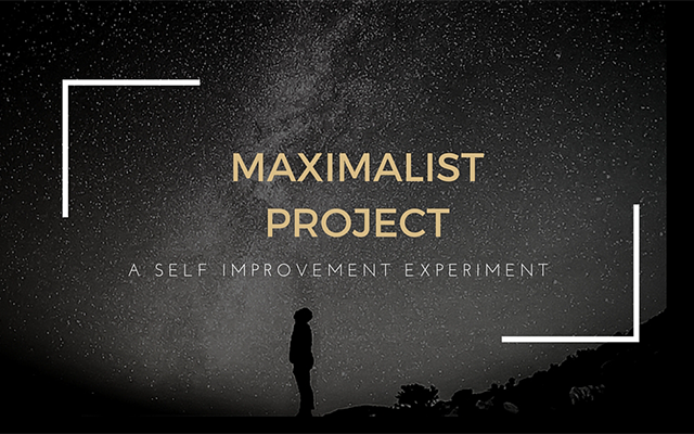 THE MAXIMALIST PROJECT